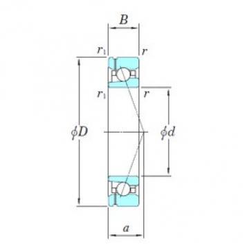 KOYO 3NCHAF016CA angular contact ball bearings