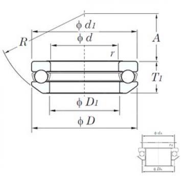 KOYO 53316 thrust ball bearings