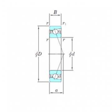 KOYO 3NCHAR932CA angular contact ball bearings
