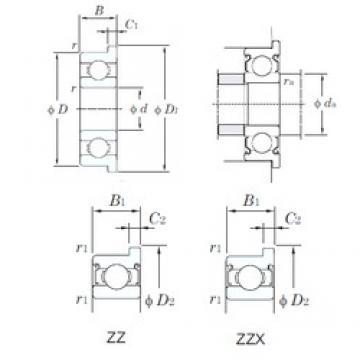 KOYO WMLF2007ZZ deep groove ball bearings