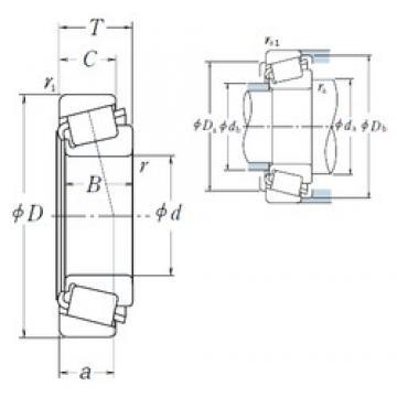 NSK 2580/2523 tapered roller bearings