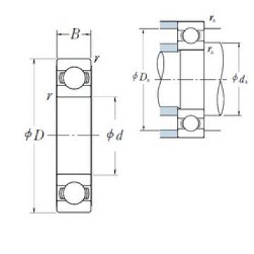 NSK 6860 deep groove ball bearings