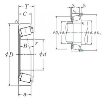 NSK HR32972J tapered roller bearings