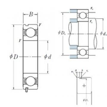 NSK 6014N deep groove ball bearings