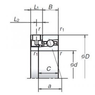 NSK 45BNR10XE angular contact ball bearings