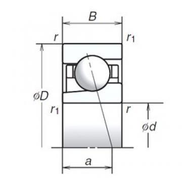 NSK 20BGR02S angular contact ball bearings