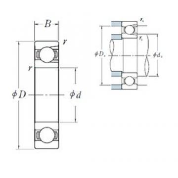 NSK BL 308 deep groove ball bearings