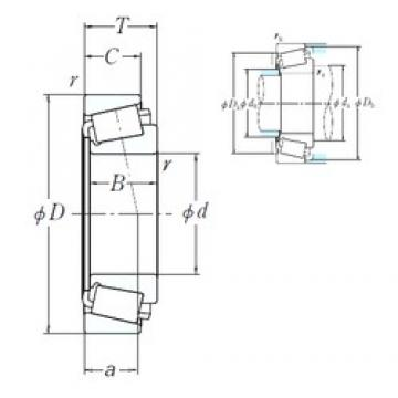 NSK EE430888/431575 cylindrical roller bearings