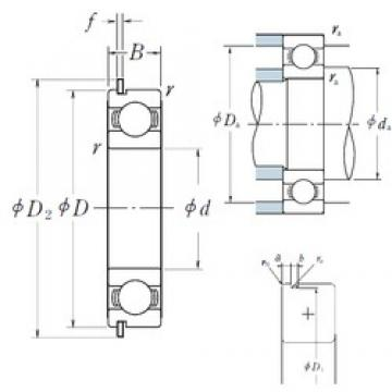 NSK 60/32NR deep groove ball bearings