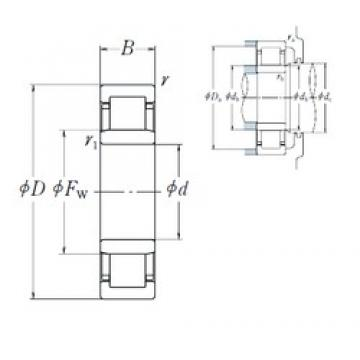 NSK NU 406 cylindrical roller bearings
