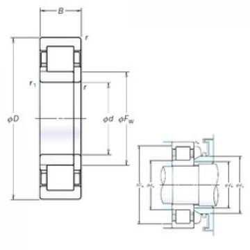 NSK NUP336EM cylindrical roller bearings
