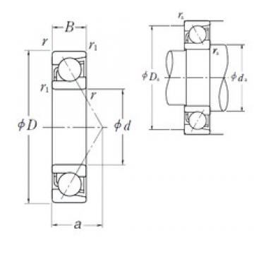 NSK 7017 C angular contact ball bearings
