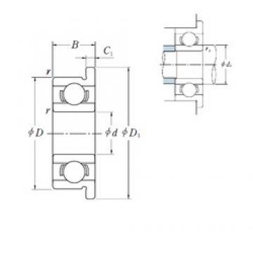 ISO FR1-4 deep groove ball bearings
