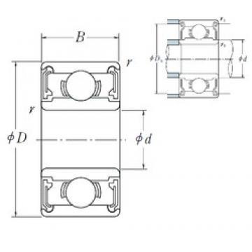NSK 695 VV deep groove ball bearings