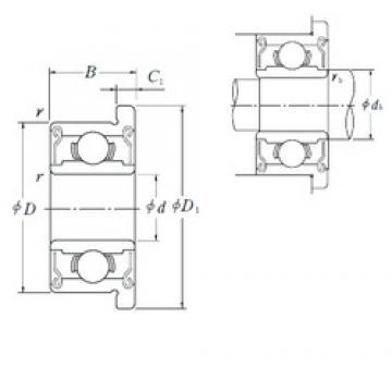 NSK F625VV deep groove ball bearings