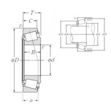 NTN 4T-05066/05185 tapered roller bearings