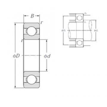 NTN 6320 deep groove ball bearings
