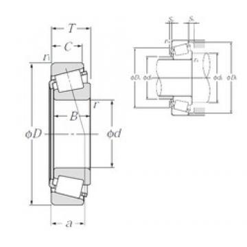 NTN 4T-33110 tapered roller bearings