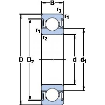 SKF 61822-2RZ deep groove ball bearings