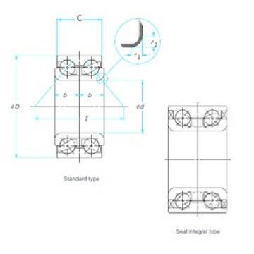 ISO DAC45880239 angular contact ball bearings