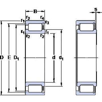 SKF NCF 2934 CV cylindrical roller bearings