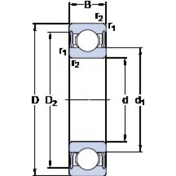 SKF 61817-2RS1 deep groove ball bearings