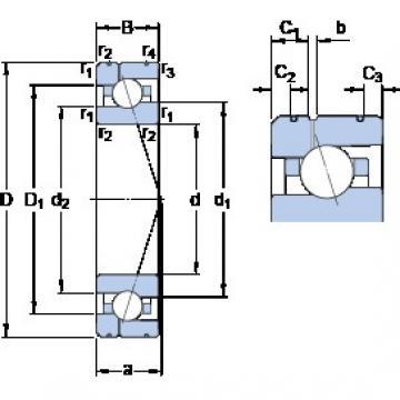 SKF 7012 ACE/HCP4AL1 angular contact ball bearings