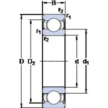 SKF W 61807-2Z deep groove ball bearings