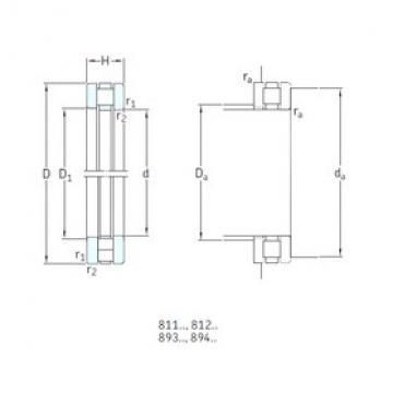 SKF 89328M thrust roller bearings