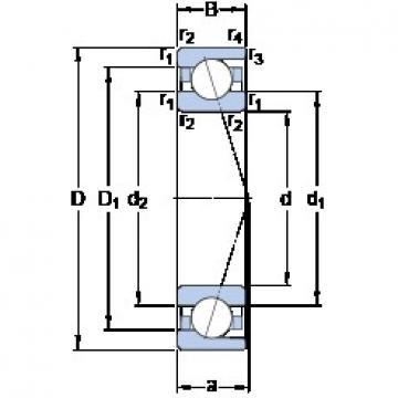 SKF 7024 CD/HCP4A angular contact ball bearings