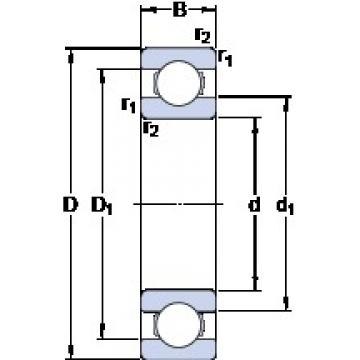 SKF 61896 MA deep groove ball bearings