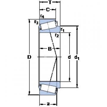 SKF 32972 tapered roller bearings