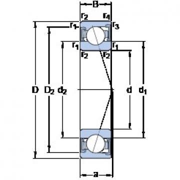 SKF S7009 ACD/HCP4A angular contact ball bearings