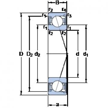 SKF S71921 ACD/HCP4A angular contact ball bearings