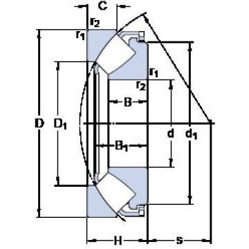 SKF 29464 E thrust roller bearings