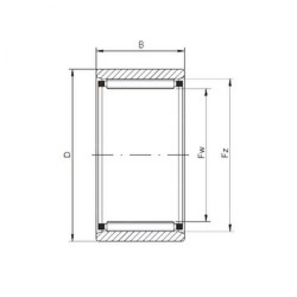 ISO RNAO35x45x26 cylindrical roller bearings #2 image