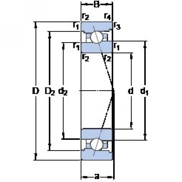 SKF 7018 ACB/HCP4A angular contact ball bearings #2 image