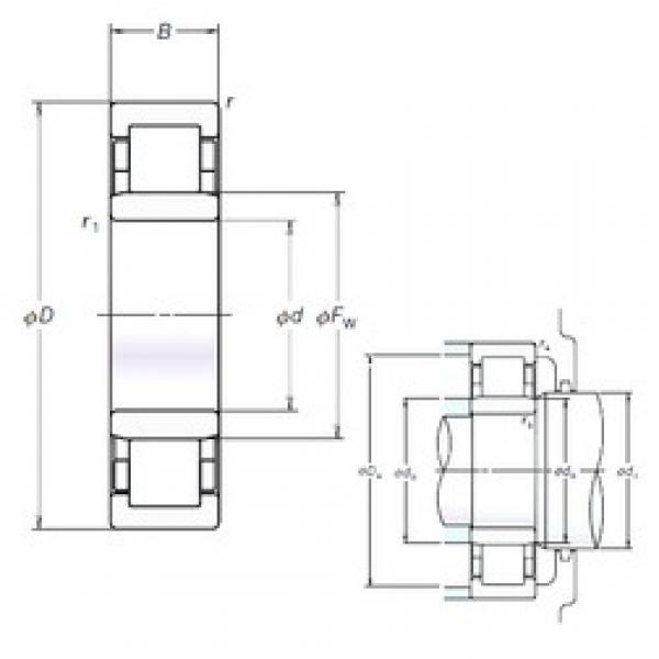 NSK NU205EM cylindrical roller bearings #2 image