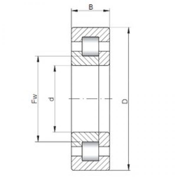 ISO NUP19/530 cylindrical roller bearings #2 image
