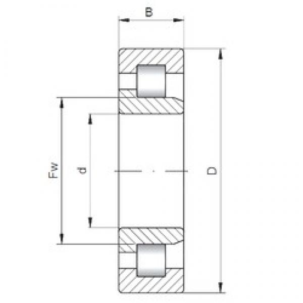 ISO NJ3232 cylindrical roller bearings #2 image