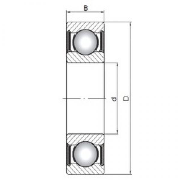 ISO 6305-2RS deep groove ball bearings #2 image