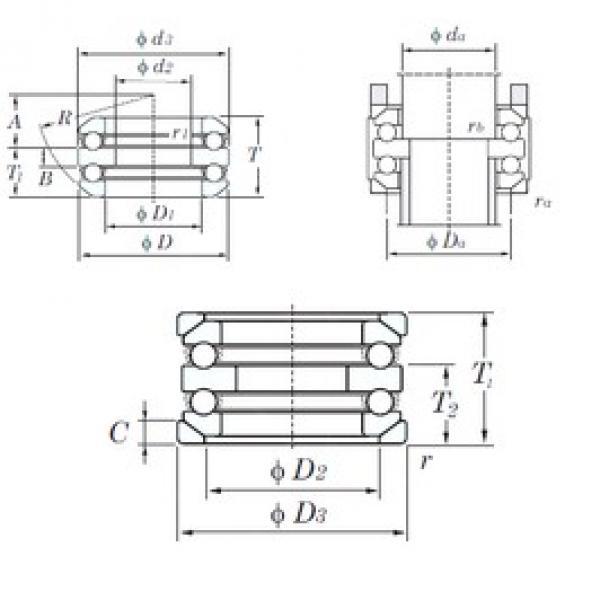 KOYO 54216U thrust ball bearings #2 image