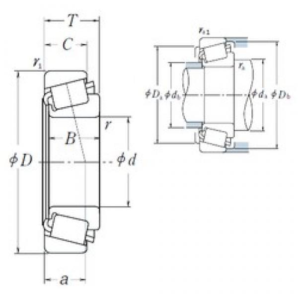 NSK JH211749/JH211710 tapered roller bearings #2 image
