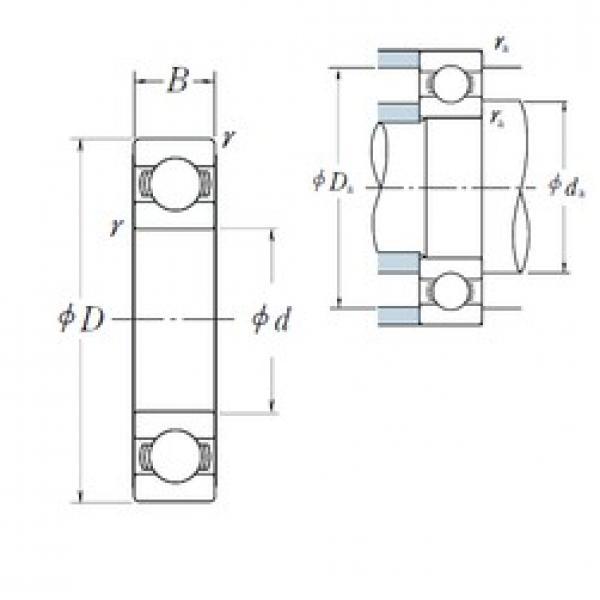 NSK 6800 deep groove ball bearings #2 image