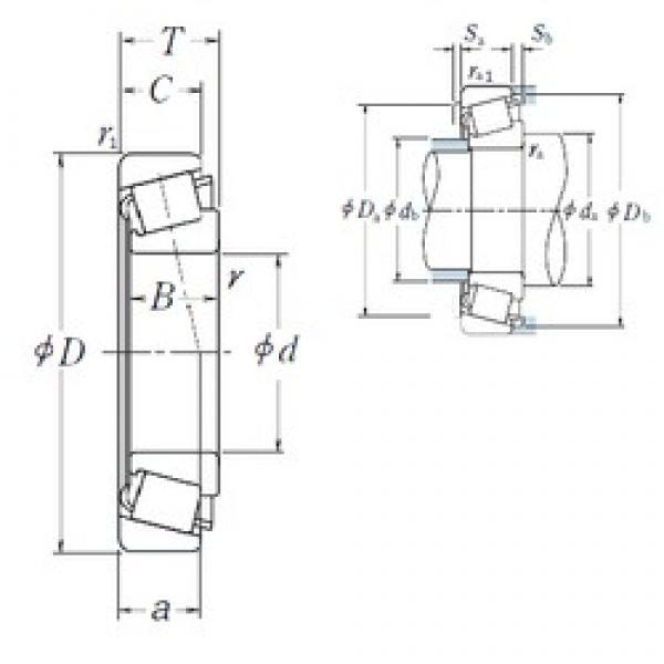 NSK HR322/28CJ tapered roller bearings #2 image