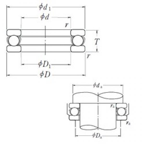 NSK 51409 thrust ball bearings #2 image