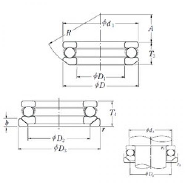 NSK 53311U thrust ball bearings #2 image