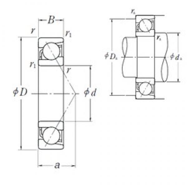 NSK 7284B angular contact ball bearings #2 image