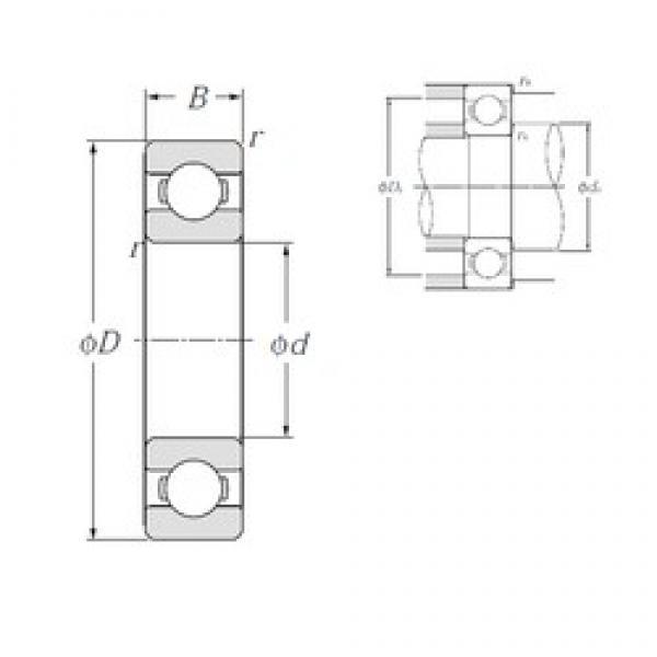 NTN 6320 deep groove ball bearings #2 image
