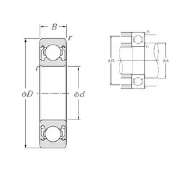 NTN 6026ZZ deep groove ball bearings #2 image